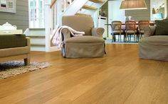 Quick Step Perspective 4 V-Groove Natural Varnished Oak Planks Modern Flooring, Living Room Flooring, Timber Flooring, Parquet Flooring, Hardwood Floors, Bedroom Flooring, Flooring Ideas, White Flooring, Garage Flooring