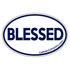 This sticker is perfect to place on your laptop, car, and more! Remember how blessed we are.