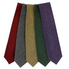 WOOL TIES  Hand-sewn wool ties 8cm width  £45.00