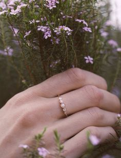 14kt rose gold and diamond Constellation ring – Luna Skye by Samantha Conn