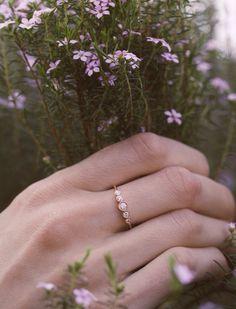 14kt gold and diamond Constellation ring – Luna Skye by Samantha Conn