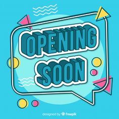 Opening soon modern background with typography Free Vector Web Design, Graphic Design Tutorials, Graphic Design Inspiration, Logo Design, Logo Samples, Typography Design, Lettering, Event Poster Design, Background Design Vector
