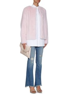 Katie mink-fur jacket | Lilly E Violetta | #fashion #mink #jacket #style #matches.com #lillyevioletta @lillyevioletta1