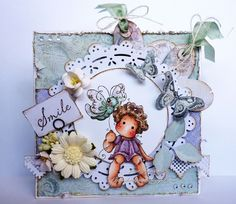 Sitting Tilda with Butterfly by Magnolia stamps