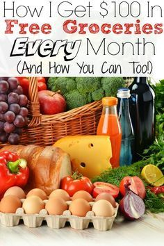 How i get $100 in Free Groceries every month and it's simple you can do it too! Hint it's not coupons!