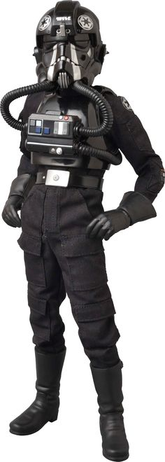 """Sideshow Collectibles Star Wars - TIE Fighter Pilot Sixth Scale Figure ~ """"Sideshow is pleased to introduce the TIE Fighter Pilot RAH figure from Medicom Toy. Featuring the upgraded RAH 301KAI body, the figure is highly authentic & film accurate, The TIE Fighter Pilot makes an outstanding addition to any Star Wars collection! ~ SRP: $199.99"""