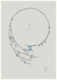 "https://www.facebook.com/ichien.jewellery Колье ""Сакура"""