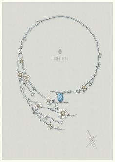 "https://www.facebook.com/ichien.jewellery Колье ""Сакура"""