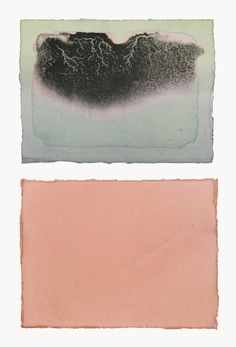 Cornelia White Swann: Fugitive Color, Brewster on the Horizon made from purple cabbage, blueberry, and henna on paper
