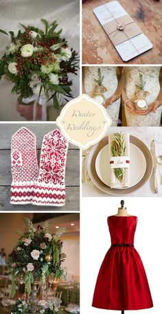 #red and #green, #winter wedding inspiration