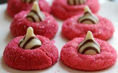 Peanut Butter Kiss Cookies - Pretty in Pink Version