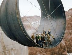 The Hoover Dam under construction,1935. : OldSchoolCool