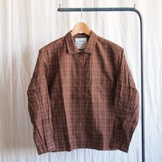 Wide Shirt #brown check