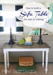 Sofa Table #homedecor
