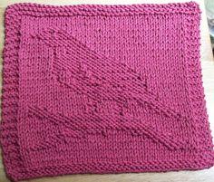 DigKnitty Designs: Another Bird Knit Dishcloth Pattern