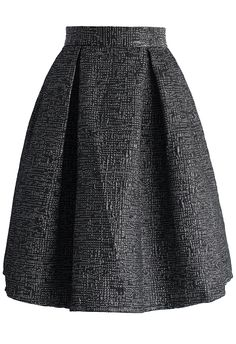 Dark Illusion Embossed Pleated Skirt - New Arrivals - Retro, Indie and Unique Fashion
