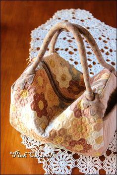 ❤ =^..^= ❤  Pink Caramel   Square Bag of Hexagon by Yoko Saito