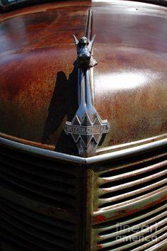 Old International Trucks | Rusty Old 1935 International Truck Hood Ornament. 7d15503 Photograph ...