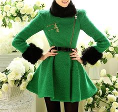 Green Russian Style Coat.. if only we lived there?