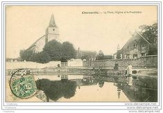 28.CHARONVILLE.LA MARE,L'EGLISE ET LE PRESBYTERE