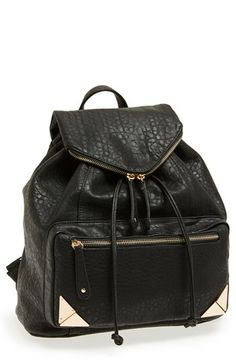 { Faux Leather Backpack }