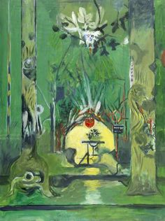 Untitled (Keep Out) (1979) by British artist Graham Sutherland (1903-1980). Oil on canvas, 129.9 x 96.7 cm. collection: National Museum, Wales. via BBC
