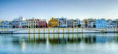 Calle Betis, en la otra orilla del Guadalquivir. Sevilla (Spain)