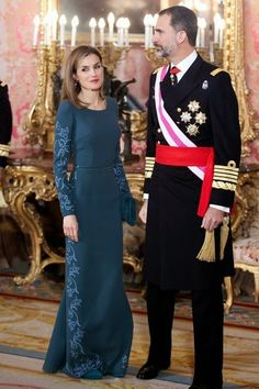 Queens & Princesses - King Felipe and Letizia Queen attended the first ceremony of the Pascua Militar as kings of Spain.