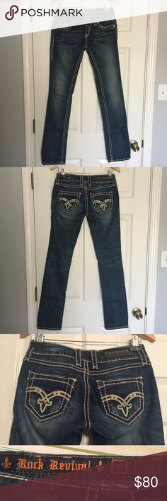 Rock Revival Straight Leg Jeans Size 27 Rock Revival Denisa Jeans. Size 27. 33 inch inseam. Rock Revival Jeans Straight Leg