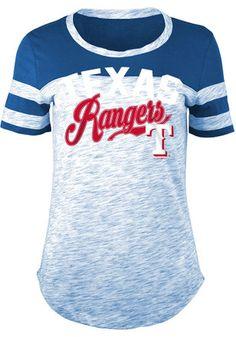 Texas Rangers Womens Novelty Blue T-Shirt