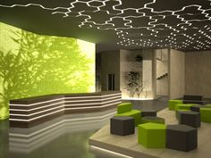 slight pattern lit behind?? for the ceiling. has technology feel