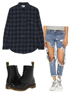"""""""Grudge"""" by ijeomaokeke ❤ liked on Polyvore featuring One Teaspoon, Current/Elliott and Dr. Martens"""
