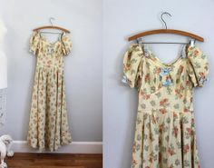 1930s Dust Bowl romantic floral biased off by revivalhouse on Etsy, $88.00