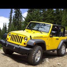 My dream - yellow Jeep