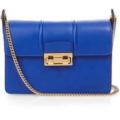 Lanvin Jiji small leather shoulder bag ($1,990) ❤ liked on Polyvore featuring bags, handbags, shoulder bags, blue handbags, blue leather handbag, blue purse, real leather purses and lanvin purse