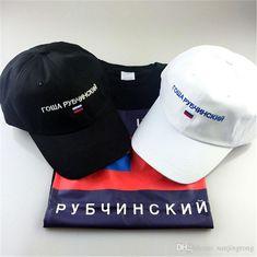 Fashion Brand Gosha Rubchinskiy Caps Men Women Hip hop Streetwear Black  Snapback Baseball Cap Strap back White Black Cool Hats d104b25002e1