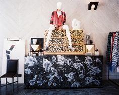 Retail Store Design Photo - Patterned cabinets and decorative accessories
