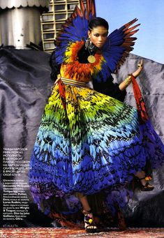 The Terrier and Lobster: Rainbow of the Week: Alexander McQueen Spring 2003 & Spring 2008 Rainbow Dresses