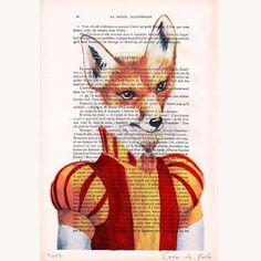 Mr Rabbit - Hand Painting Mixed Media Artwork - Coco De Paris