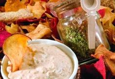 Southwestern Dip from Paula Deen. Make you own dry mix to have on hand then mix it up with sour cream and mayo. (I would use low fat sour cream and mayo.) The mix would make a great gift idea for the holidays!