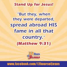 When Jesus blesses you, you cannot but help but 'Stand Up for Jesus'!