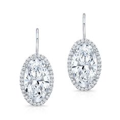 Oval Diamond Drop Earrings #Rahaminov #diamonds #RahaminovDiamonds #finejewelry…