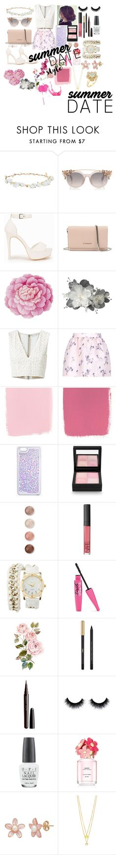 """""""Summer date style"""" by yolo1434 ❤ liked on Polyvore featuring Robert Rose, Nly Shoes, Givenchy, Ballard Designs, Alice + Olivia, RED Valentino, Boohoo, Terre Mère, NARS Cosmetics and Charlotte Russe"""