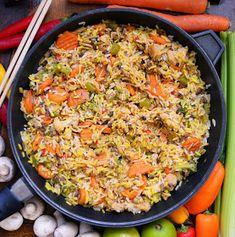 Paella, Fried Rice, Fries, Food And Drink, Vegan, Ethnic Recipes, Diet, Vegans, Nasi Goreng