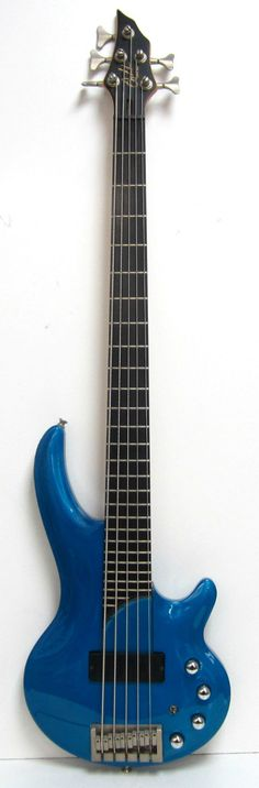 Blue Cort Curbow 5 String Electric Bass Guitar