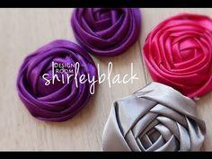 Tutorial / Rose fabric flower 花苞玫瑰DIY教學 - YouTube
