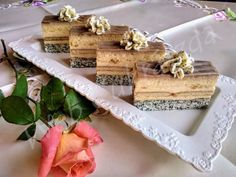 Poppy Cake, Cake Bars, Feta, Dessert Recipes, Food And Drink, Dairy, Cheese, Treats, Sweet