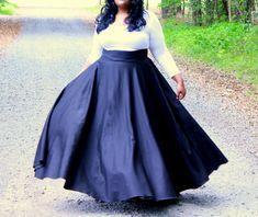 S Benson I Plus Size Maxi Full Wrap Skirt  High Waist