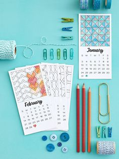 Printable Coloring Book Calendar - Here are 20 free printable 2016 calendars that you can print out and customize. Dainty calendars, cute calendars, food calendars.. a collection of free printable calendars for you to use.