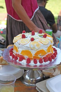 Citrus cake for Ida's first birthday party